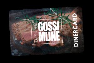 Geef Gossimijne cadeau met de Gossi Dinercard